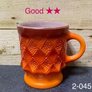 ファイヤーキング(Fire-King)のファイヤーキング キンバリー マグカップ オレンジ #3(グラス/カップ)