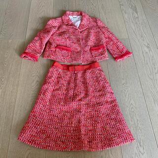 ハロッズ(Harrods)のHarrods ハロッズ スーツ セットアップ ジャケット スカート 赤(セット/コーデ)
