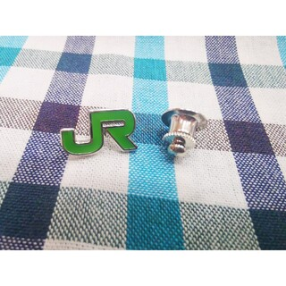 JR - JR東日本【社章 純銀刻印入】ピンバッジ 鉄道グッズ