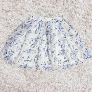 アストリアオディール(ASTORIA ODIER)のASTORIA*花柄オーガンジースカート(ひざ丈スカート)