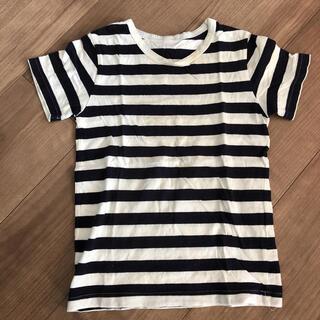 ムジルシリョウヒン(MUJI (無印良品))のボーダーTシャツ 無印 120(Tシャツ/カットソー)