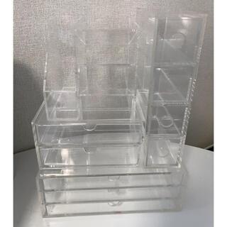 ムジルシリョウヒン(MUJI (無印良品))の無印良品アクリル収納5点セット(ケース/ボックス)