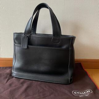 COACH - 【美品】オールドコーチ ハンドバッグ フルグレインレザー  黒 9303