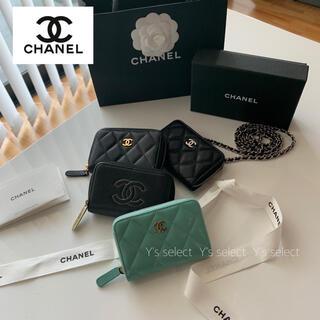 シャネル(CHANEL)の2021年 シャネル コインケース カードケース キャビアスキン グリーン 希少(コインケース)