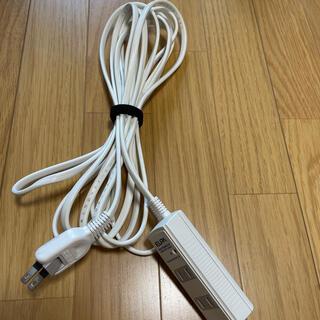 エルパ(ELPA)の電源タップ 延長ケーブル 5m(その他)