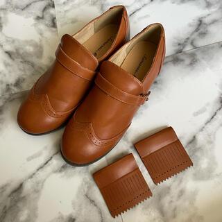 サマンサモスモス(SM2)の【新品】サマンサモスモス キルト ローファー フラットシューズ キャメル(ローファー/革靴)
