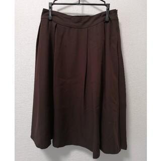 インデックス(INDEX)のindex ブラウンスカート(ひざ丈スカート)