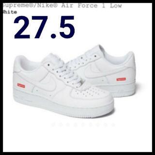 Supreme - Nike Air Force1 supreme white 27.5