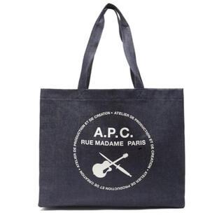 アーペーセー(A.P.C)のA.P.C. 剣とギター トートバッグ 新品 アーペーセー インディゴ APC(トートバッグ)