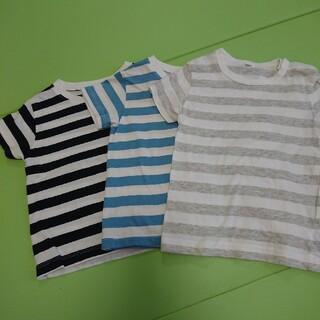 ムジルシリョウヒン(MUJI (無印良品))の無印  無印良品  Tシャツ  ボーダー  90サイズ(Tシャツ/カットソー)
