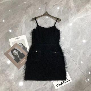 シャネル(CHANEL)の21SS シャネル ドレス ブラック レディース(ミニワンピース)