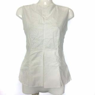 マルニ(Marni)のマルニ MARNI ブラウス シャツ ノースリーブ 38 M 白 ホワイト(シャツ/ブラウス(半袖/袖なし))