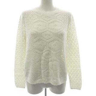 miumiu - ミュウミュウ ニット セーター 長袖 かぎ針編み ウール 40 M アイボリー