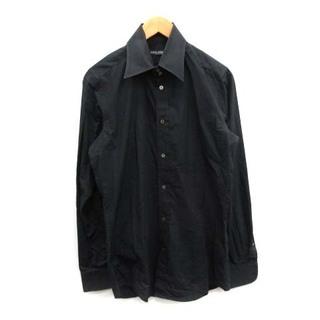 ドルチェアンドガッバーナ(DOLCE&GABBANA)のドルチェ&ガッバーナ ドルガバ ドレスシャツ ワイシャツ イタリア製 M 黒(シャツ)