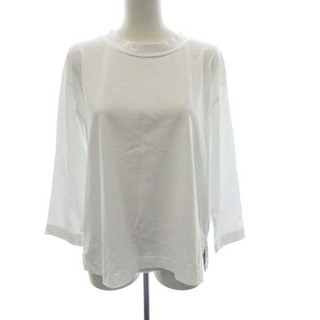 マーガレットハウエル(MARGARET HOWELL)のマーガレットハウエル  Tシャツ カットソー 無地 オーバーサイズ 2 M 白(カットソー(長袖/七分))