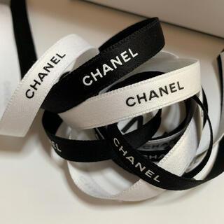 シャネル(CHANEL)の希少!1cm幅 CHANEL ラッピング リボン 2m(ラッピング/包装)