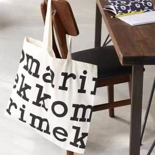 marimekko - マリメッコ ロゴ トートバッグ ブラック Marimekko 大きめ 大容量