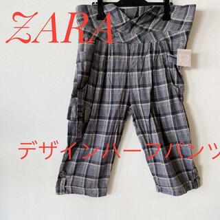 ザラ(ZARA)の☆ZARA☆カーゴ風デザイン☆ 麻混ハーフパンツ☆(ハーフパンツ)