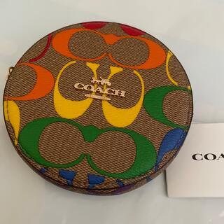 コーチ(COACH)の新品COACHレインボーシグネチャーコインケース(コインケース)