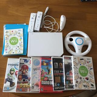 Wii - Nintendo Wii本体  ソフト7本 リモコン テーブルゲーム