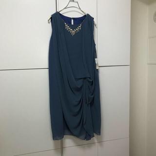 スコットクラブ(SCOT CLUB)の75新品メトリーゼMAITRESSE ネックレス付ドレープワンピースドレス(ミディアムドレス)