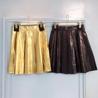 ミルク(MILK)のお値下げしました!新品未使用♡MILK GOLD ミニスカート(ミニスカート)