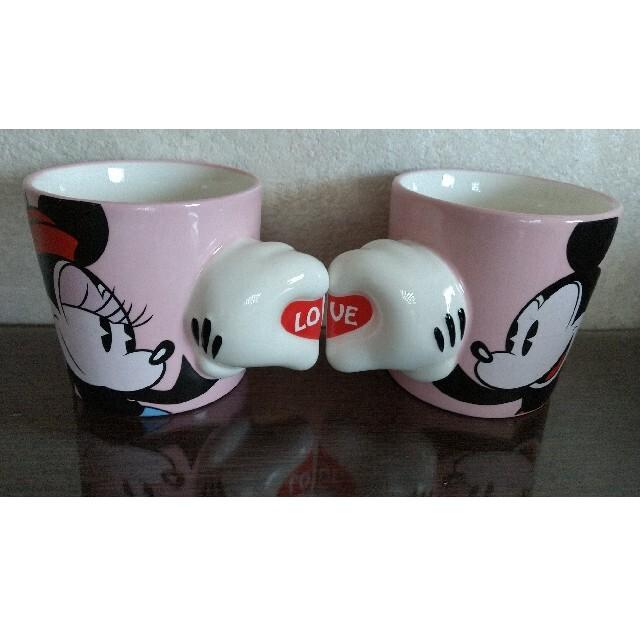 Disney(ディズニー)のミッキー&ミニーマグカップ インテリア/住まい/日用品のキッチン/食器(グラス/カップ)の商品写真
