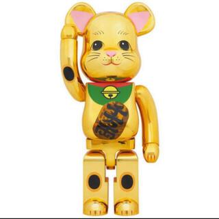 メディコムトイ(MEDICOM TOY)のBE@RBRICK 招き猫 金メッキ 発光 1000%(その他)