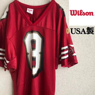 wilson - 90s USA製 Wilson NFL フットボールシャツ ユニフォーム M