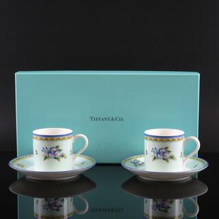 ティファニー(Tiffany & Co.)のティファニー カップ&ソーサーセット   モーニング グローリー(グラス/カップ)
