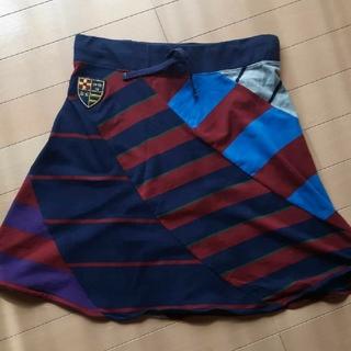 ラルフローレン(Ralph Lauren)の未使用ラルフローレンRalphLAUREN紺×赤×グレースカートL160サイズ(ひざ丈スカート)