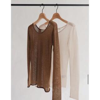 TODAYFUL - louren glitter seethrough knit tops