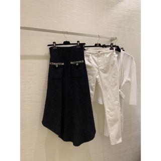 シャネル(CHANEL)の【CHANEL シャネル】最新2021SS スカート/ブラック/ツイード(ひざ丈スカート)