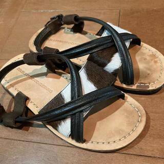 ダブルスタンダードクロージング(DOUBLE STANDARD CLOTHING)のダブスタ  ハラコ サンダル(サンダル)