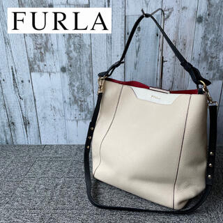 Furla - Furla トートバッグ ワンショルダーバッグ レザー ハンドバッグ バケツ型
