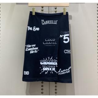 シャネル(CHANEL)の2021 CHANEL スカート コットン スポーティ(ひざ丈スカート)