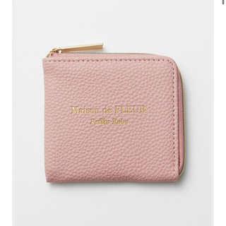 Maison de FLEUR - 新品未使用 メゾン ド フルール プチ ローブ 大人ピンクなレザー調ミニ財布