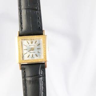 ロレックス(ROLEX)の【仕上済】ロレックス プレシジョン K18YG スクエア レディース 腕時計(腕時計)