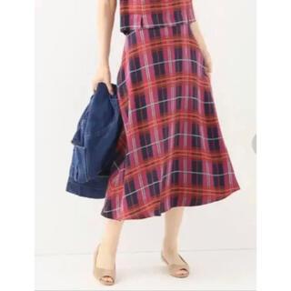 スピックアンドスパン(Spick and Span)のSpick & Span チェックAラインスカート(ロングスカート)