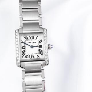 Cartier - 【仕上済】カルティエ タンクフランセーズ SM ダイヤ レディース 腕時計