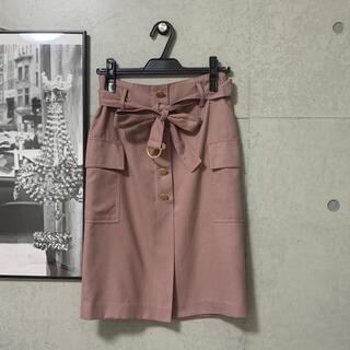 アストリアオディール(ASTORIA ODIER)のASTORIA ODIER♡ベルト付き金釦タイトスカート(ひざ丈スカート)
