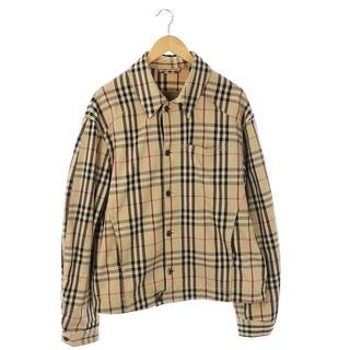 バーバリー(BURBERRY)のバーバリー ノバチェックジャケット 薄手 長袖 ロゴボタン L 茶 黒 赤(その他)