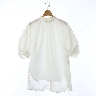エンフォルド(ENFOLD)のエンフォルド 5分袖 スタンドBL ブラウス シャツ 半袖 バック比翼ボタン(シャツ/ブラウス(半袖/袖なし))