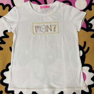 ロニィ(RONI)の㉕パールロゴT白♡145(Tシャツ/カットソー)