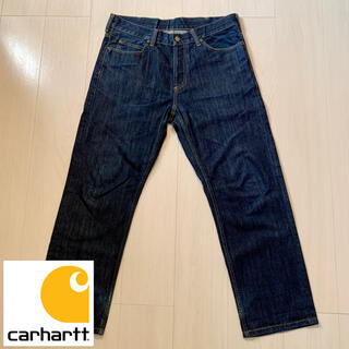 carhartt - 【90's/革ロゴ/Carhartt】大人気Carharttのデニムパンツ!