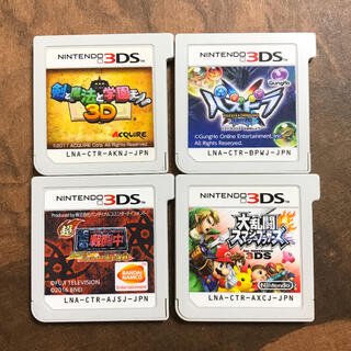 ニンテンドー3DS(ニンテンドー3DS)の3ds ソフト カセット まとめ売り 剣と魔法と学園モノ 戦闘中 スマブラ(携帯用ゲームソフト)