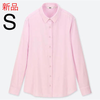 UNIQLO - 新品 ユニクロ レーヨンブラウス(長袖)Sサイズ ピンク