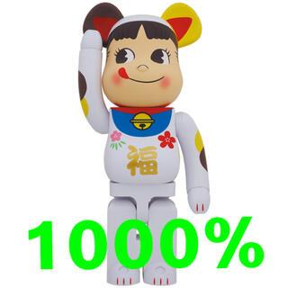メディコムトイ(MEDICOM TOY)のBE@RBRICK 招き猫 ペコちゃん 福 1000%(キャラクターグッズ)