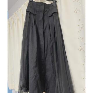 COCO DEAL - ココディール ロングチュールスカート ブラック
