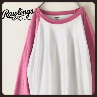 ローリングス(Rawlings)の【USA古着】XL オーバーサイズ ラグラン 七分袖ロンT rawlings (Tシャツ/カットソー(七分/長袖))